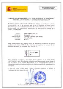 certificado nimf 150001