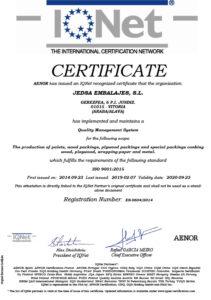 Certificados iso 9001